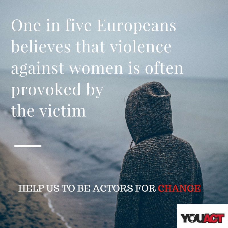 One in five Europeans believes that violence against women is often provoked by the victim